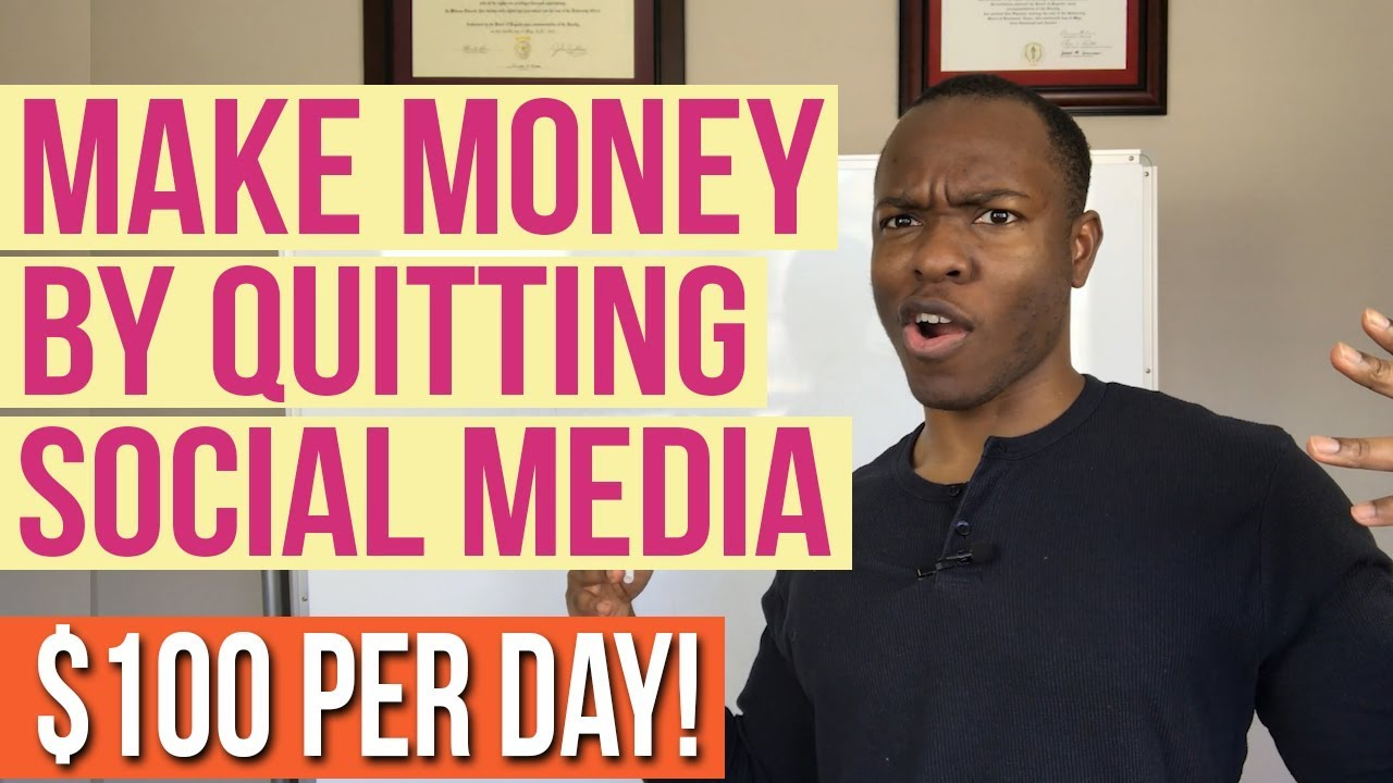 Make Money Online (DAILY PAYOUT of $100 PER DAY) by QUITTING SOCIAL MEDIA