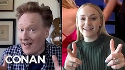 #ConanAtHome: Sophie Turner Full Interview - CONAN on TBS