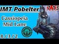 IMT Pobelter as Cassiopeia Mid Lane - S7 Patch 7.13 - RANK 7 NA Challenger - Full Gameplay
