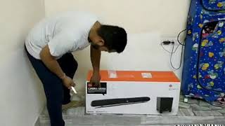 Unboxing installation JBL SB250 Soundbar