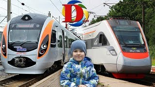 Железная дорога и быстрые Скоростные Поезда. Едем на поезде. Виды железнодорожного транспорта