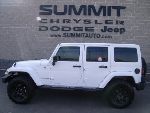 7J74A 2014 USED JEEP WRANGLER ALTITUDE FOR SALE IN FOND DU LAC WISCONSIN $ www.SUMMITAUTO.com