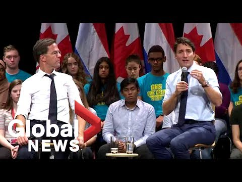 PM Justin Trudeau and Dutch PM Mark Rutte tackle question of marijuana legalization