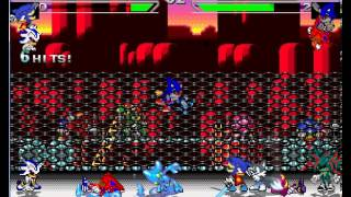 Mugen - -z- and shadow android 3 and vicious and chaos vs Neo and metal sonic and espio and ace