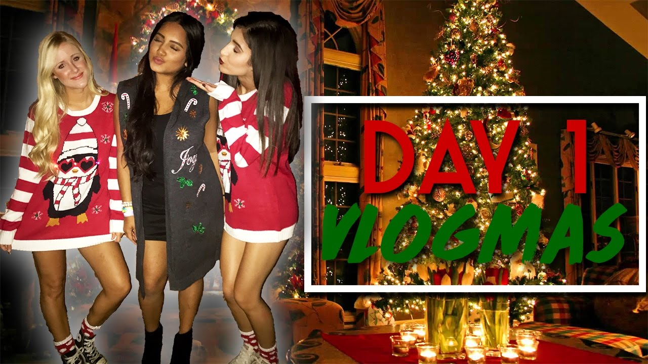 COLLEGE CHRISTMAS PARTY | Vlogmas Day 1 - YouTube