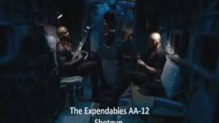 The Expendables Terrry crews showing AA-12 Machine shot gun
