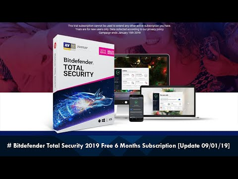 Bitdefender Total Security 2019 Free 6 Months Subscription NEW ...