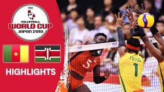 CAMEROON Vs. KENYA - Highlights Womens Volleyball World Cup 2019