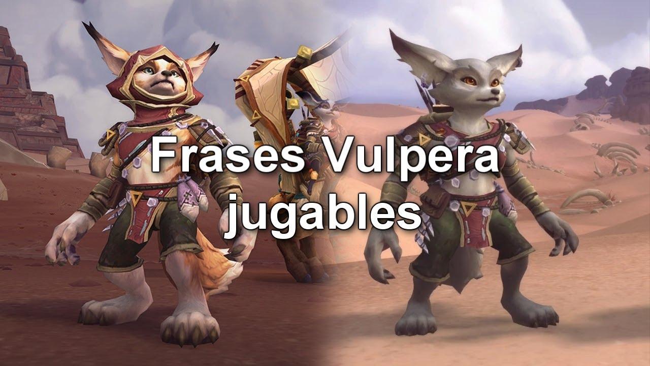 Emotes Y Frases Vulpera Jugables En Wow Bfa Castellano