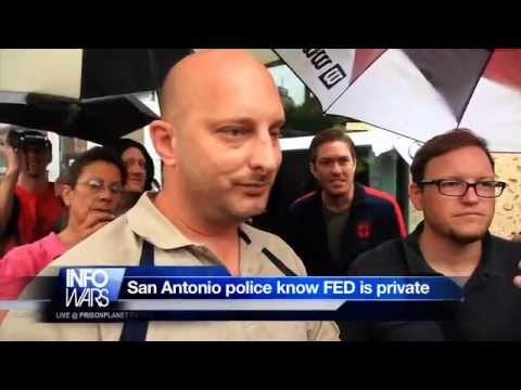 Police admit Federal Reserve is private corp.