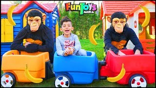 Jason Pretend Plays with Animal Friends and Toys