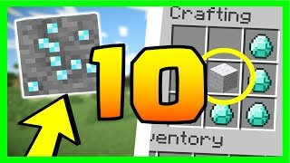 LE SAVAIS TU ? 10 SECRETS SUR LES DIAMANTS MINECRAFT
