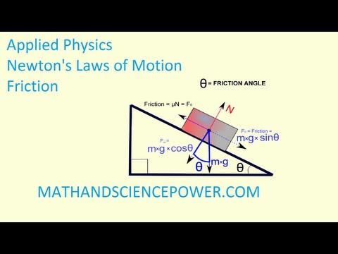 Applied Physics, Newton's Laws of Motion, Friction