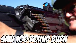100 round saw rapid fire burn fn m249s