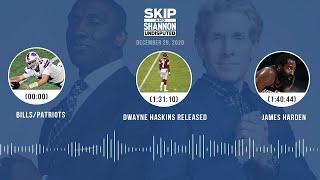 Bills/Patriots, Dwayne Haskins released, James Harden (12.29.20)   UNDISPUTED Audio Podcast