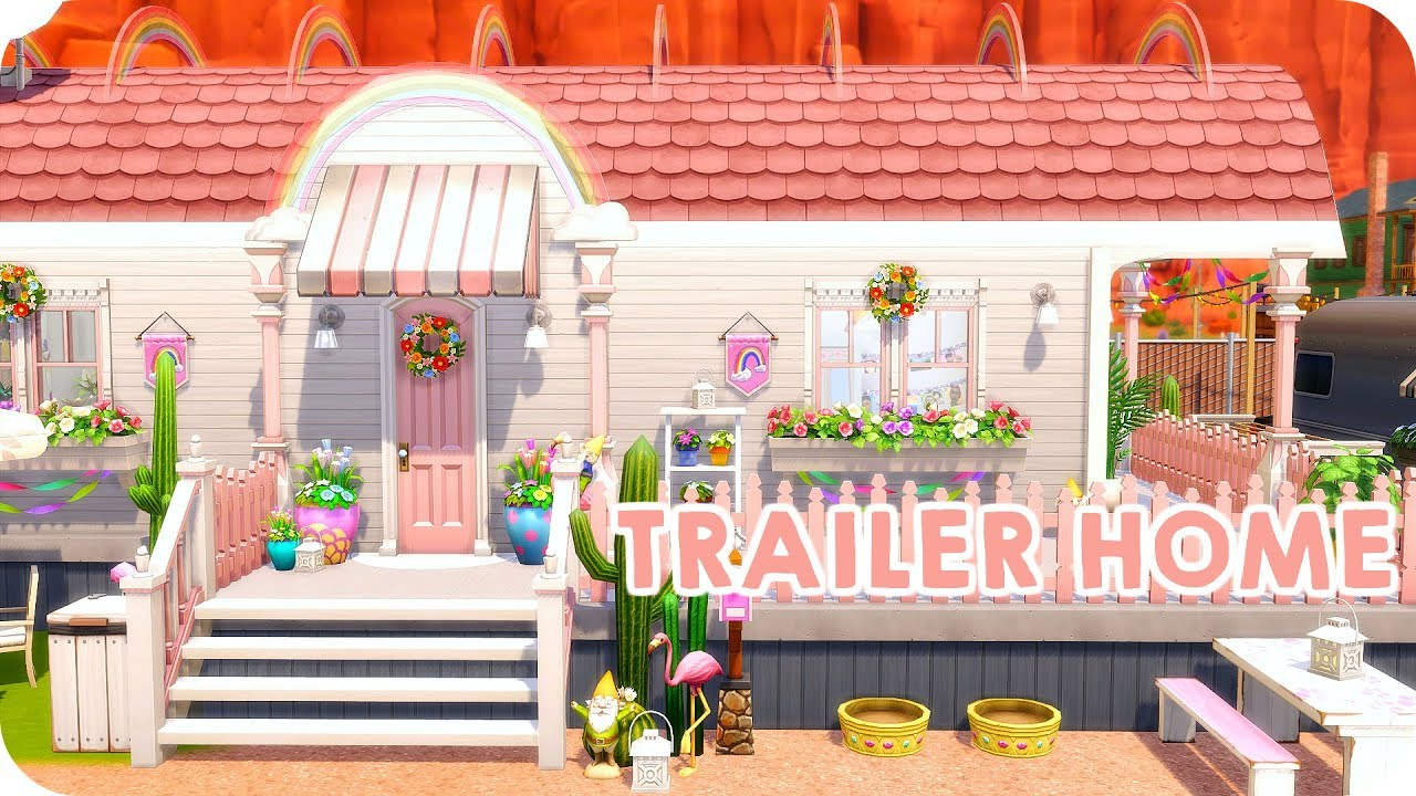 CUTEST TRAILER HOME EVER 💕 | Sims 4 StrangerVille Speed Build