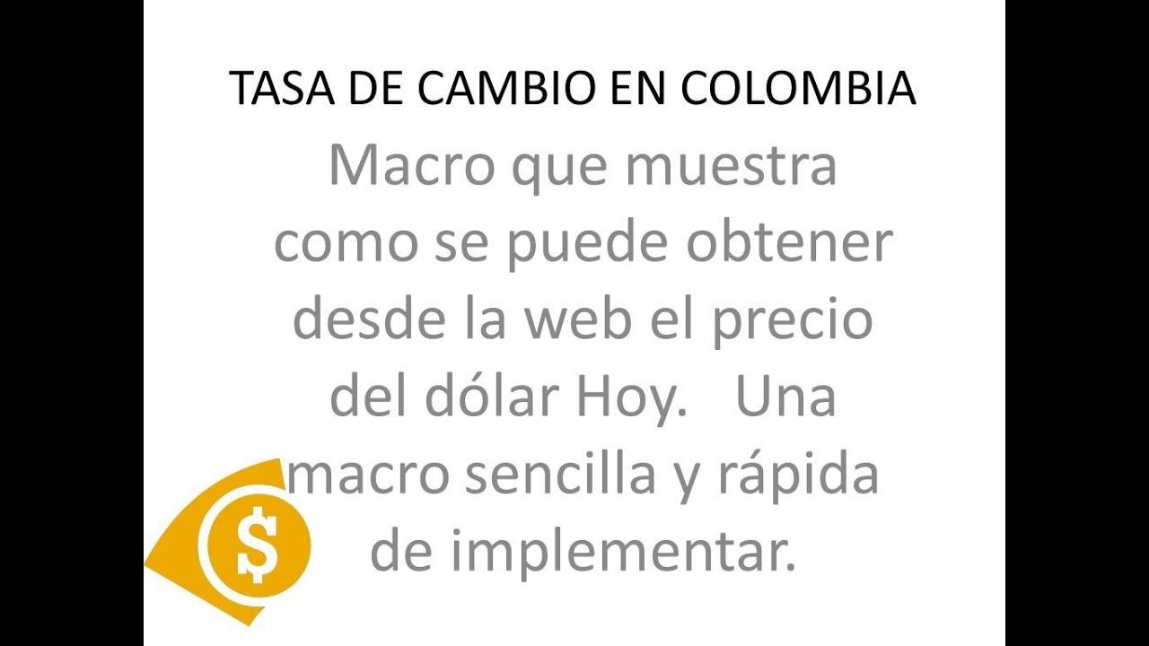 Tasa De Cambio Dolar Bancolombia