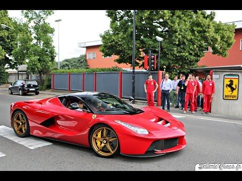 Ferrari Laferrari With Golden Wheels Delivery In