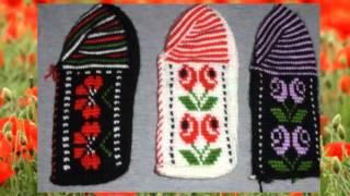 Вязаные следки.Тунисское вязание