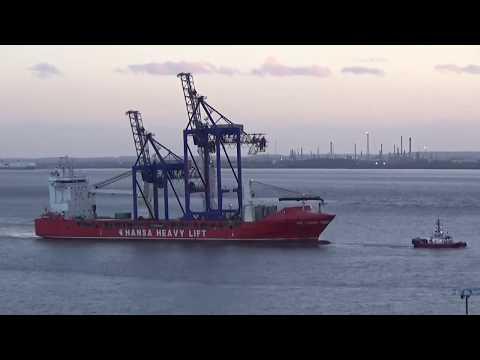 HHL Lagos Delivering Liebherr Cranes Hull
