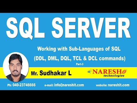 Working with Sub Languages of SQL - Part 3 | MSSQL Training