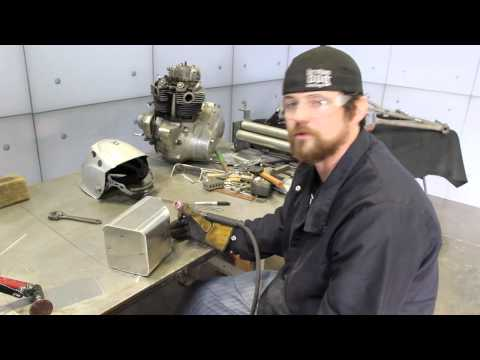 Brown Dog Welding builds Panic Attack oil tank using Dynasty 200