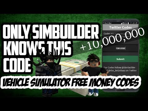 Only Simbuilder Knows This Code Vehicle Simulator Free Money Codes