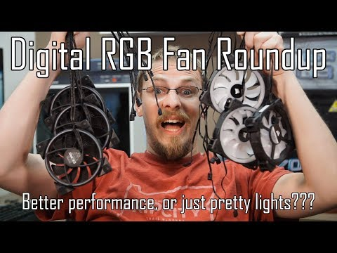 Addressable RGB Fan Shootout - More than just a pretty face