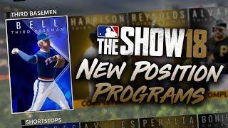 TWELVE New Position Programs! MLB The Show 18 Diamond Dynasty