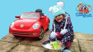 Sally Car Wash and Clean Nursery Rhymes songs for kids