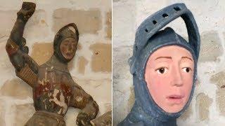 Botched restoration job leaves 16th century sculpture 'looking like cartoon'