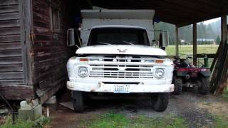 My Dads 1966 Ford F600 5 yard Dump Truck walk around!!