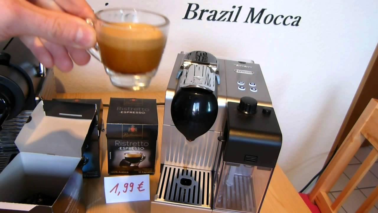 lidl bellarom kaffeekapseln in nespresso lattissima plus. Black Bedroom Furniture Sets. Home Design Ideas