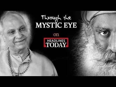 Pandit Jasraj with Sadhguru   Through the Mystic Eye