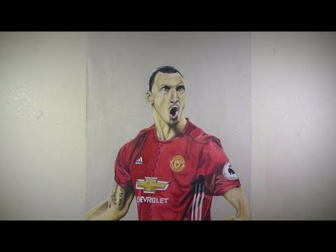 Time lapse drawing: Zlatan Ibrahimovic