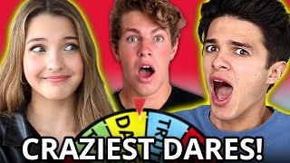 BEST Wheel of Truth or Dare Compilation w/ Brent Rivera, Lexi Rivera, Ben Azelart, & MORE!