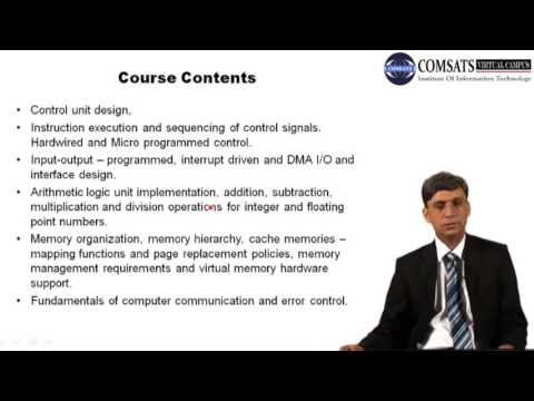 Computer Architecture in Hindi/Urdu lecture 1