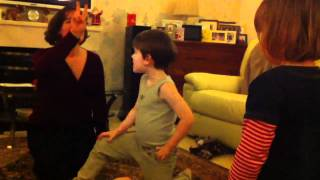 Competitive charades - the kids turn