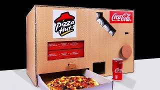 diy how to make pizza hut and coca cola vending machine