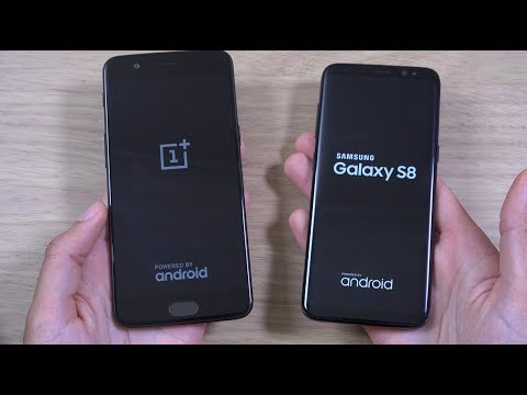 OnePlus 5 vs Samsung Galaxy S8 - Speed Test!