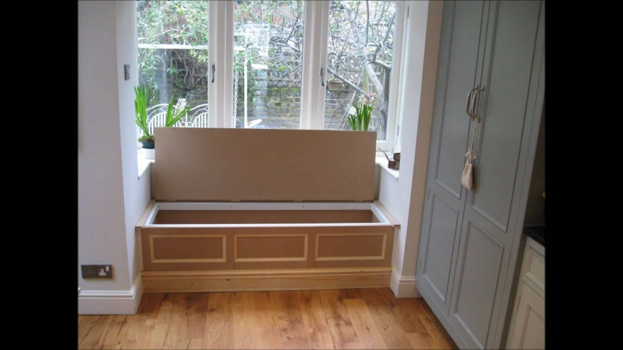 Dining Room Bench With Storage Kitchen Fitting Bookshelves Bay Window Seats Youtube