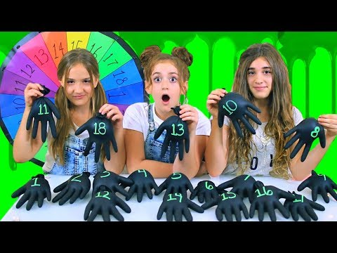 Mystery Wheel Of Halloween Gloves Slime Challenge!