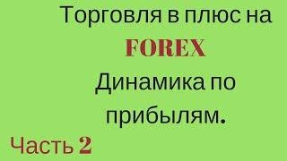 Стратегия торговли в плюс на FOREX.Динамика по прибылям. Часть 2