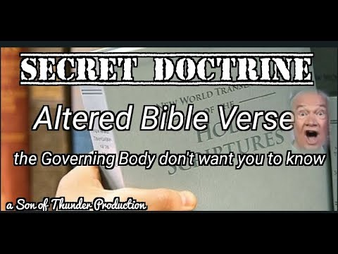 The Secret Doctrine Most Jehovah's Witnesses Don't Know
