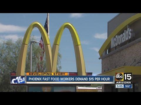 Phoenix fast food workers demanding $15 minimum wage