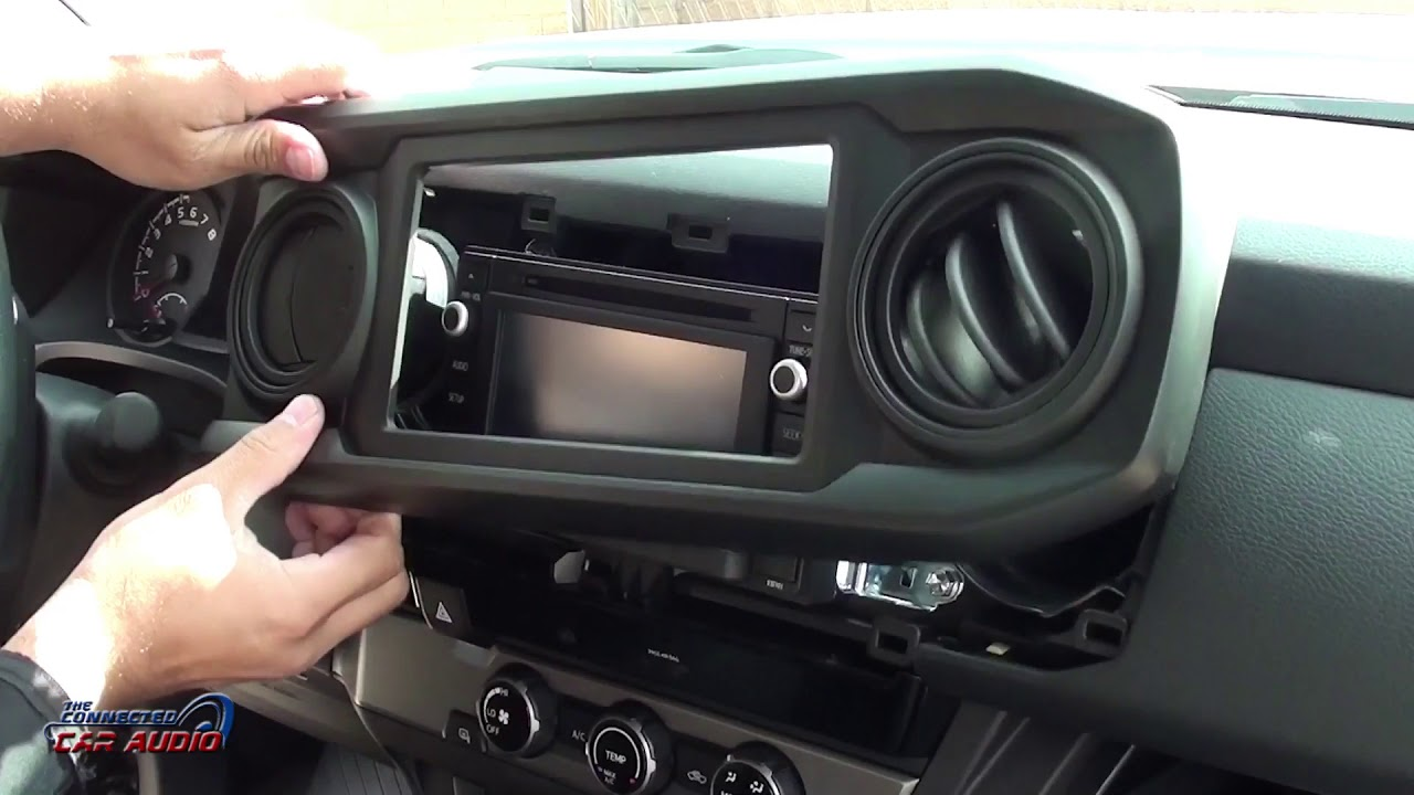 Remove factory stereo 2016 and up Toyota Tacoma