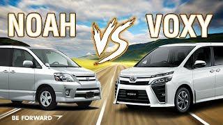 Toyota Voxy vs Noah Head-On Car Clash Comparison   BE FORWARD Reviews