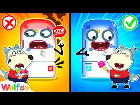 Stop, Wolfoo! It's Too Hot - Learn Kids Safety Tips With Hot vs Cold Refrigerator   Wolfoo Channel