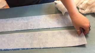 make an adjustable self-tie bow tie part 1