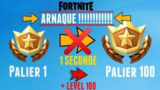 DON'T DO THIS GLITCH ON FORTNITE (100 FREE PALIERS - LEVEL 100)!